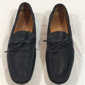 Prada Men's Driving Loafers Leather Lace Up
